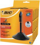 Afbeelding vanBaliebalpen Bic pen desk met ketting zwart Balpennen 4 kleuren