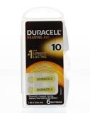 Afbeelding vanDuracell Hearing Aid Zinc Air DA10 blister 6