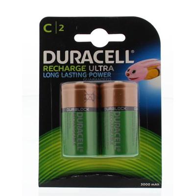 Afbeelding van Batterij oplaadbaar Duracell 2xC 3000mAh Plus Oplaadbare Batterijen