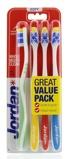 Afbeelding vanJordan Tandenborstel Total Clean Soft 4 pack stuks