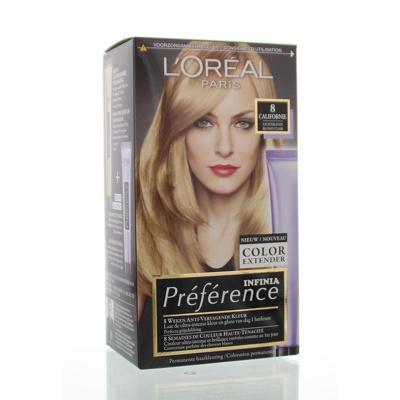 Afbeelding van L'Oréal Paris Préférence haarkleuring 8 Californie lichtblond