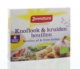 Afbeelding vanZonnatura Bouillonblokjes Knoflook/kruiden 11 gram, 6x11 gram