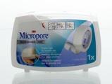 Afbeelding van3M Micropore Hechtpleister Dispenser 1.25cmx9.14m