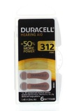 Afbeelding vanDuracell Batterijen Gehoorapparaat DA312 N6 1,45 V Zinc Air PR4...