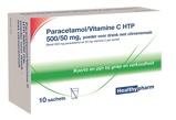 Afbeelding vanHealthypharm Paracetamol vitamine c sachet 10sach