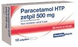 Afbeelding vanHealthypharm Paracetamol Zetpil 500 Mg 10zp