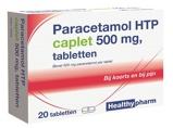 Afbeelding vanHealthypharm Paracetamol 500 mg Caplet 20 tabletten