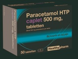 Afbeelding vanHealthypharm Paracetamol 500 mg Caplet 50 tabletten