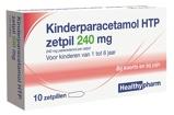 Afbeelding vanHealthypharm Paracetamol Kinderen 240mg Hea 10ZP