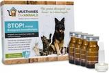 Afbeelding vanMusthaves For Animals Stop! Aromatherapie Anti vlooienmiddel 4x8 ml