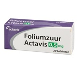 Afbeelding vanActavis Foliumzuur 0.5 mg 30 tabletten
