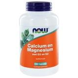Afbeelding vanNOW Calcium en Magnesium met D3 K2 (180 capsules)