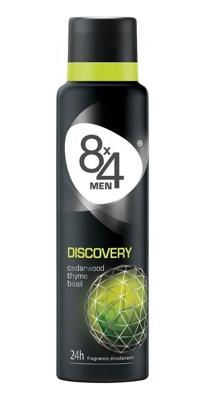 Afbeelding van 8X4 Deodorant spray men discovery 150 ml