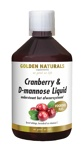 Afbeelding vanGolden Naturals Cranberry D mannose liquid (500 ml)