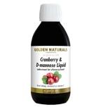 Afbeelding vanGolden Naturals Cranberry & D Mannose Liquid 250ML