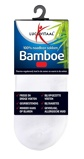 Afbeelding vanLucovitaal Bamboe Enkelsok Wit Maat 35 38 1 paar