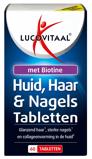 Afbeelding vanLucovitaal Huid Haar Nagels met Biotine 60 tabletten