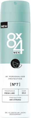 Afbeelding van 8x4 Deodorant Spray No 7 Fresh Lime 150 ml