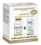 Afbeelding vanGolden Naturals Duoset scutellaria 60 capsules en 20ml neusspray 1 set