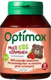 Afbeelding vanOptimax Kinder multivitamines aardbei 90 kauwtabletten