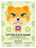 Afbeelding vanMontagne Jeunesse Kitten sheet face mask cucumber & aloe 1 stuk
