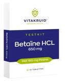 Afbeelding vanVitakruid Betaine HCL 650 mg & pepsine 160 testkit (10 tabletten)