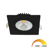 Afbeelding vanDimbare led inbouwspot zwart, vierkant, dim to warm, kleine inbouwdiepte, IP54