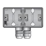 Afbeelding vanNiko Hydro 2-voudig horizontale opbouwdoos grijs, dubbele M20 ingang
