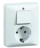 Afbeelding vanPeha combinatie wcd met schakelaar inline levend wit 80.6686.02