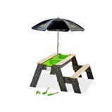 Bilde avEXIT Aksent sand , vann og piknikbord (1 benk) med parasoll og hageredskaper