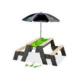 Bilde avEXIT Aksent sand , vann og piknikbord (2 benker) med parasoll og hageredskaper