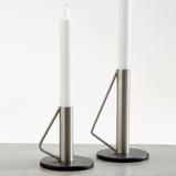 Billede afLysestage sort og stål medium
