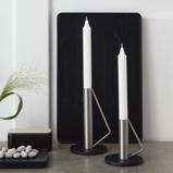Billede afLysestage sort og stål large