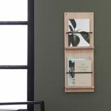 Billede afA Magazine Gallery træ magasinholder til væg