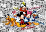 Afbeelding vanDutch Wallcoverings AG Design Mickey On Dark Comics (4 Delen) FTD2225