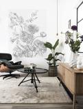 Afbeelding vanKEK Amsterdam behangpaneel Engraved Flowers (142,5x180 cm)