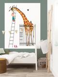 Afbeelding vanKEK Amsterdam behangpaneel Giant Giraffe (142.5x180 cm)