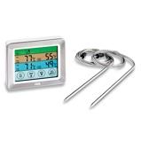 ZdjęcieADE Dualy termometr kuchenny do miÄsa i stekÃ3w cyfrowy stalowy z dwiema sondami
