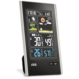 ZdjęcieADE Assistant 11,5 x 18,5 cm czarna stacja pogodowa elektroniczna plastikowa z czujnikiem zewnÄtrznym