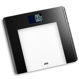 ZdjęcieADE Linette czarna 33 x 30 cm waga Åazienkowa elektroniczna szklana obliczajÄca wskaźnik BMI
