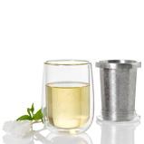 ZdjęcieADHOC Fusion Glass 400ml szklanka do herbaty szklana z podwÃ3jnymi Åciankami i zaparzaczem