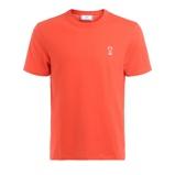 Immagine diT shirt Ami in cotone rosso con patch logato cuore