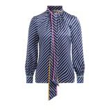 Kép:Blusa Tory Burch in seta stampata blu
