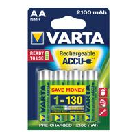 Thumbnail of Batterij oplaadbaar Varta 4xAA 2100mAh ready2use Oplaadbare Batterijen