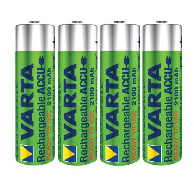 Afbeelding van Batterij oplaadbaar Varta 4xAA 2100mAh ready2use Oplaadbare Batterijen