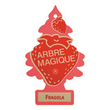 Afbeelding vanArbre Magique luchtverfrisser 12 x 7 cm Fragola rood/roze