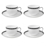Image ofAynsley China Mozart Set of 4 Teacups and Saucers