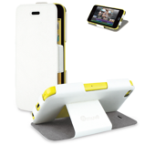 Afbeelding vanMuvit iFlip Folio Case White voor Apple iPhone 5C