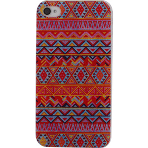 Afbeelding van Xccess Cover Apple iPhone 4/4S Orange Aztec