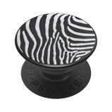 Afbeelding vanPopSockets Luxe PopGrip Embossed Metal Zebra